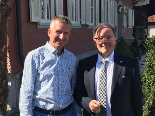 2020 Governor Reto E. Fritz und Präsident RC Frauenfeld Ch. Tschanen