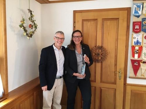 2021 Lady Governor Bea Seiterle und Präsident RC Frauenfeld A. Ettlin