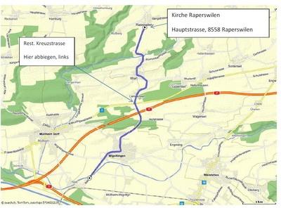 Anfahrtsplan Kirche Rapperswilen