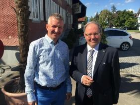 Governor Reto E. Fritz und Präsident RC Frauenfeld Ch. Tschanen