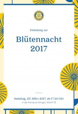 Einladung Bluetennacht 2017